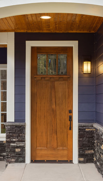 newly installed wooden door on lancaster pa home